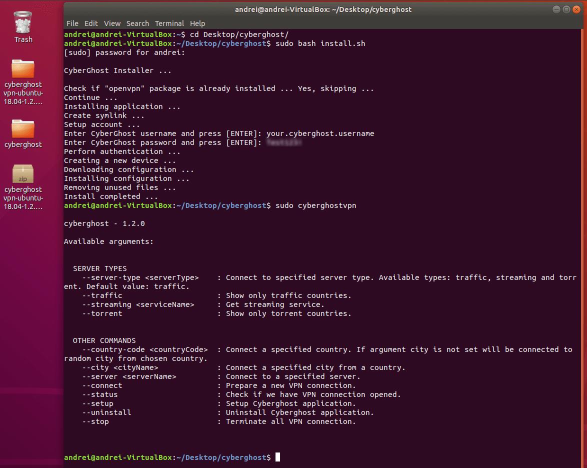 cyberghost-linux-app