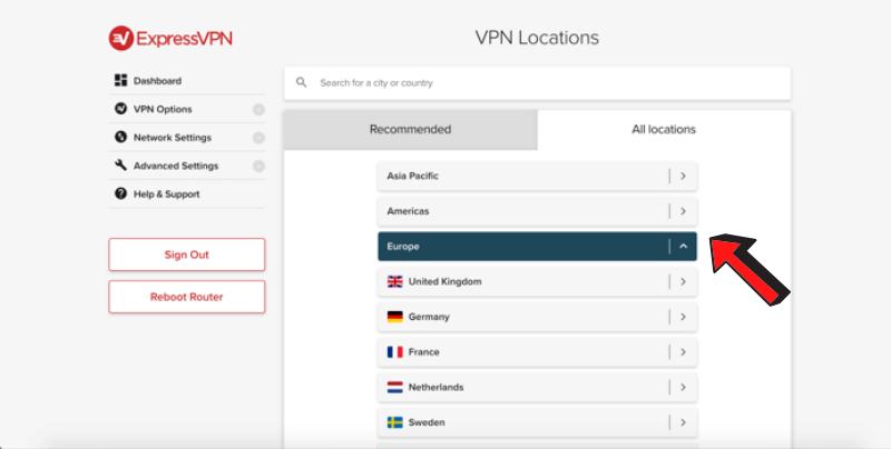 expressvpn-select-server-location