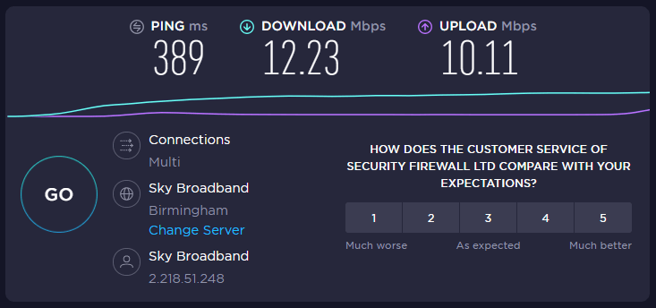 internet connection speed being throttled