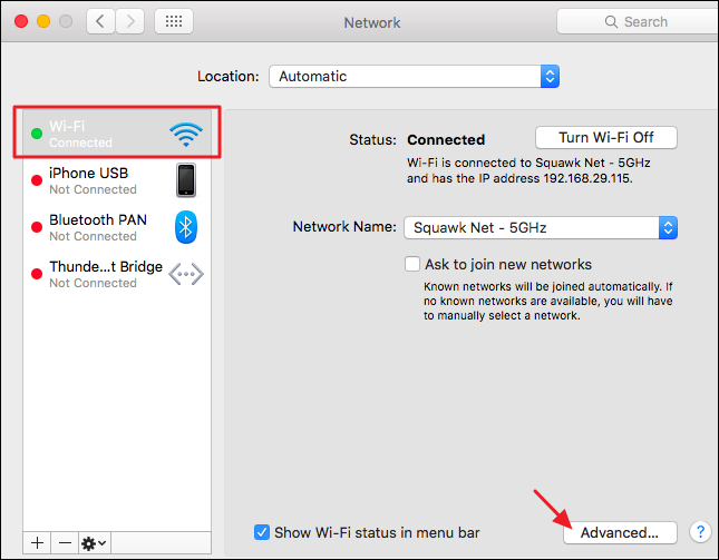 what is mac os default gateway step 2