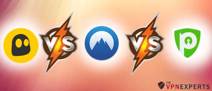 CyberGhost vs NordVPN vs PureVPN Comparison