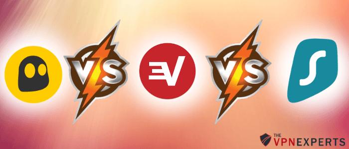 CyberGhost vs expressvpn vs surfshark