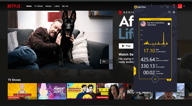 Cyberghost Unblocks Netflix