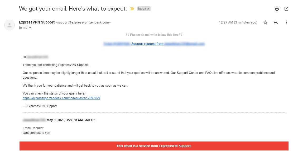 expressvpn email support