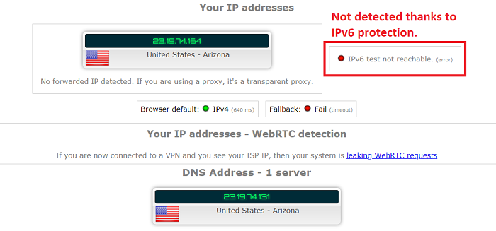 ipvanish vpn passed dns leak test
