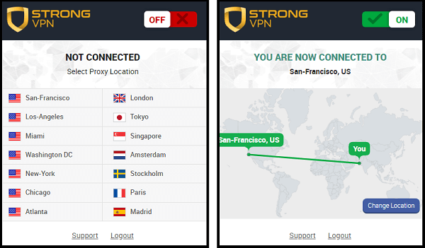 strongvpn chrome browser extension
