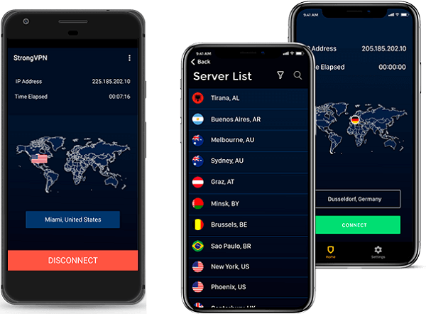 strongvpn ios and android app