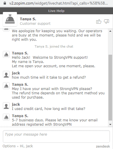 strongvpn moneyback 30 days proven