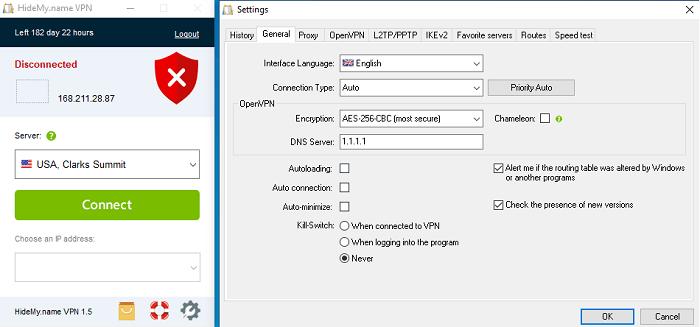256-bit AES encryption hidemyname vpn