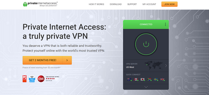 #7 private internet access 10 multiple connections