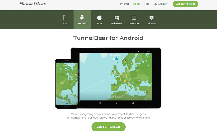 #9 tunnelbear for android