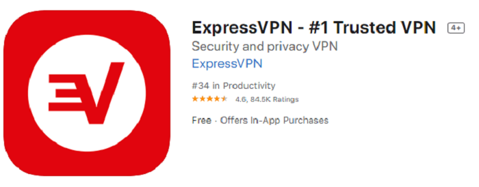 ExpressVPN App Store rating