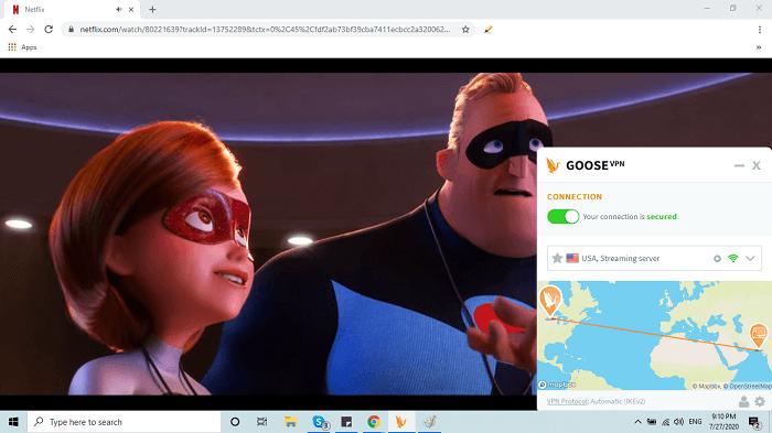 GooseVPN Netflix