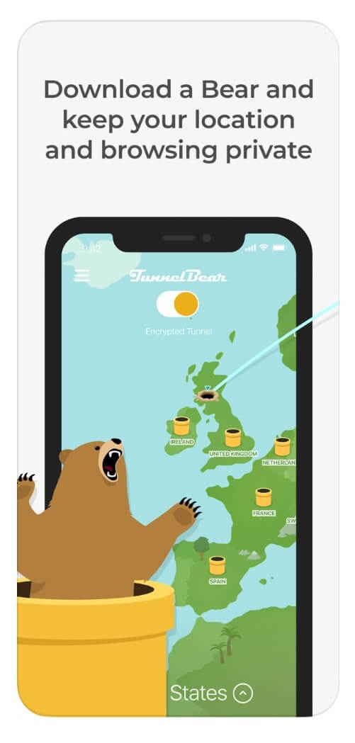 TunnelBear iOS