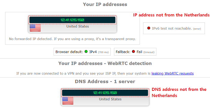 goosevpn ip address