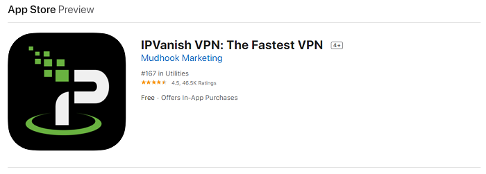 ipvanish ios app rating