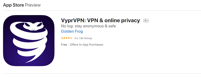 vyprvpn ios app store rating