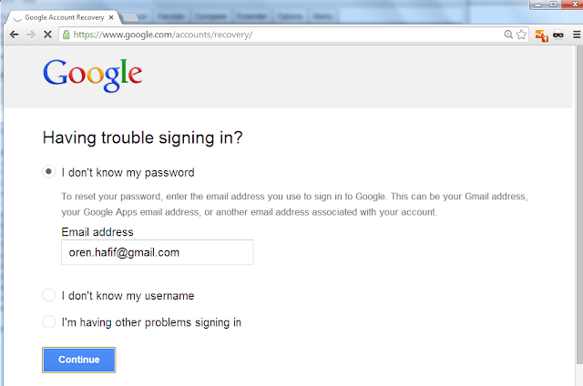 Google having trouble signing in