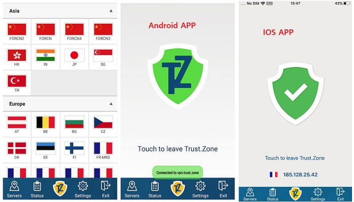 trustzone android ios apps