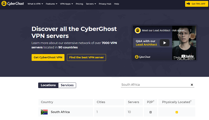 cyberghost for south africa