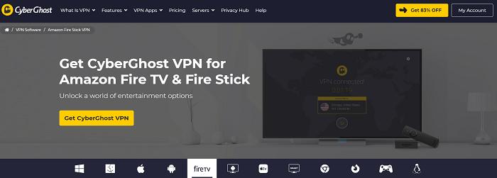 cyberghost vpn for amazon firestick