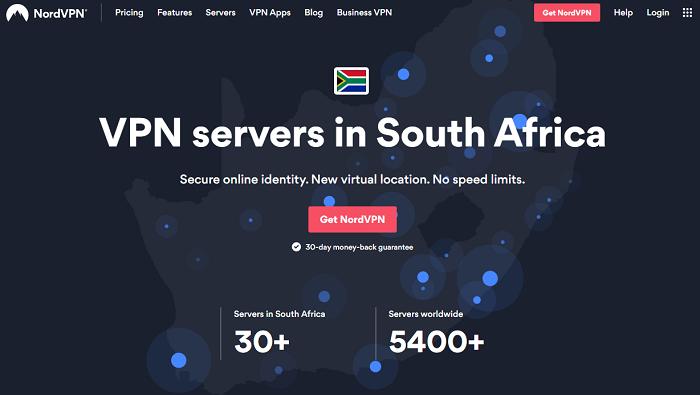 nordvpn south african servers
