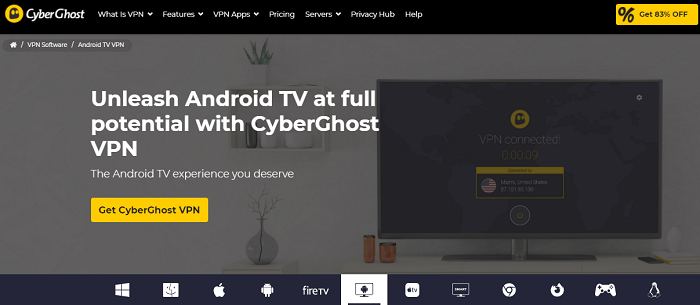 cyberghost for nvidia shield android tv