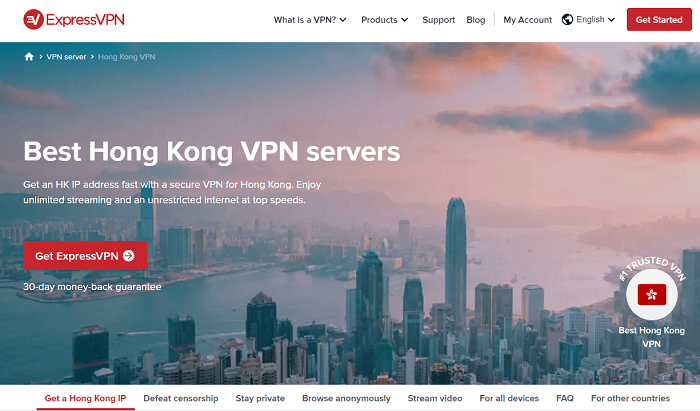 expressvpn for hongkong