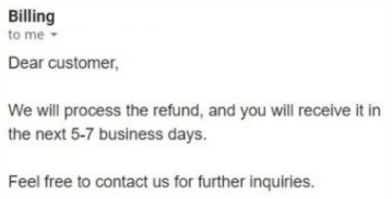 hola refund verified