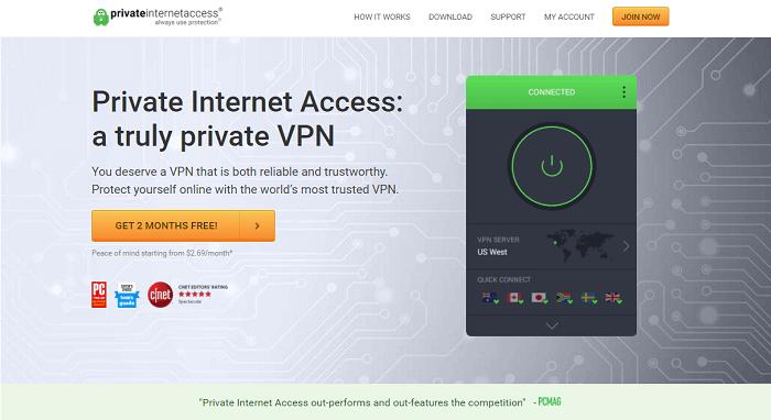 private internet access turkish servers