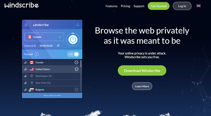 windscribe free vpn for accessing netflix libraries