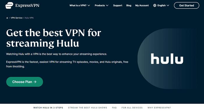 access hulu with expressvpn in australia