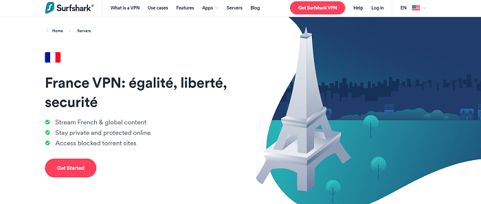 unblock netflix, hulu with surfshark in france