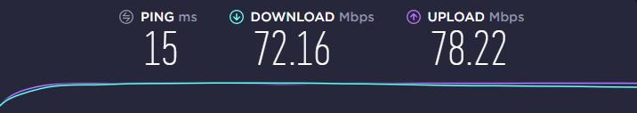 vilfo router speed test