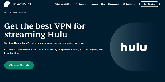 expressvpn for accessing hulu canada
