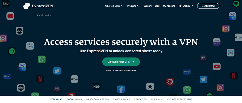 expressvpn for unblocking streaming services