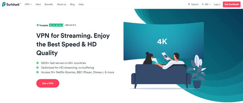 surfshark for streaming
